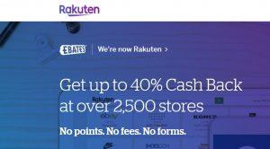Rakuten online ecommerce site
