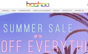 Boohoo site