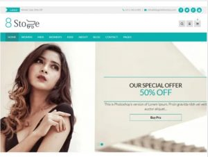 EightStore WordPress theme