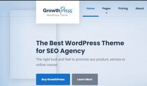 GrowthPress theme for affiliate Marketing