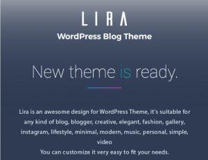 Lira WordPress theme for Affiliate marketing