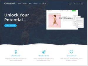 OceanWP free theme for blog
