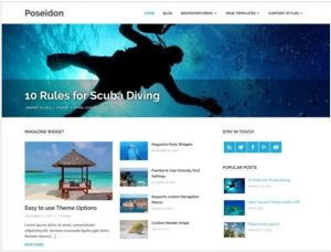 Poseidon free theme for blog