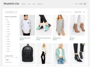 Shophostic lite theme for ecommerce