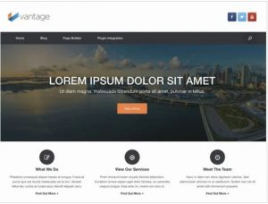 Vantage theme for ecommerce