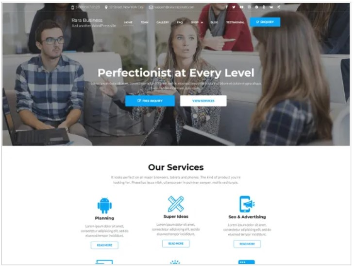rara business theme for affiliate marketing